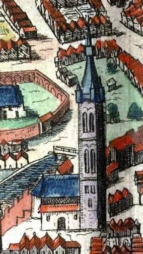 Kolegiata około 1617 widziana z północy Foto: CC