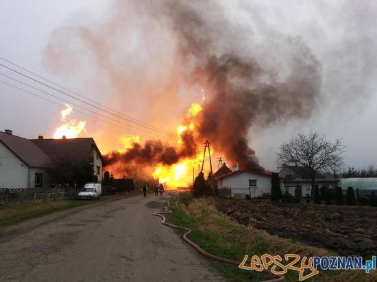 Wybuch gazu w Jankowie Przygodzkim  Foto: PSP