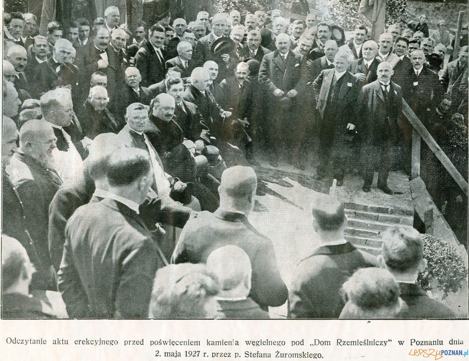 Wmurowanie kamienia węgielnego pod budowę Izby Rzemieślniczej Foto: Izba Rzemieślnicza w Poznaniu