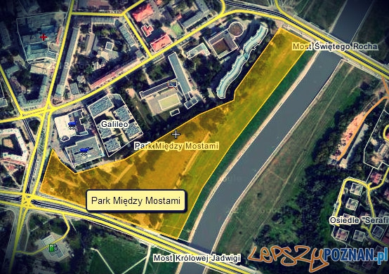 Park między mostami  Foto: Google Maps / Paweł Sztando