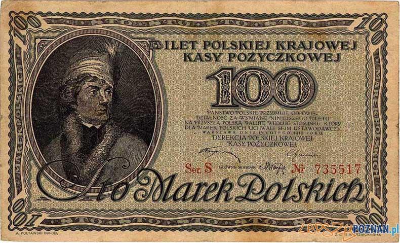 Marka Polska emisja z 1919 roku Foto: cc/wikipedia