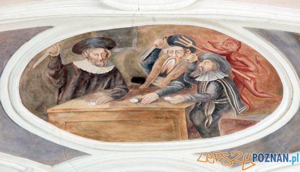 Fresk Adama Swacha w kosciele przy Żydowskiej