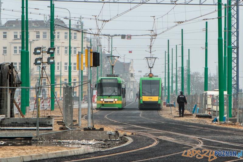 Tramwaje wracają na Kaponierę - Poznań 18.01.2014 r.  Foto: LepszyPOZNAN.pl / Paweł Rychter