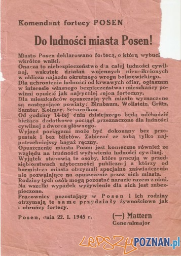 Festung Posen 22 stycznia 1945