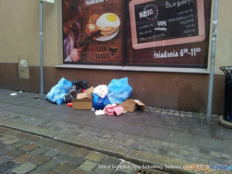 sobotni poranek na skrzyżowaniu Gołębiej i Szkolnej  Foto: facebook / Ulica Wrocławska - Poznań