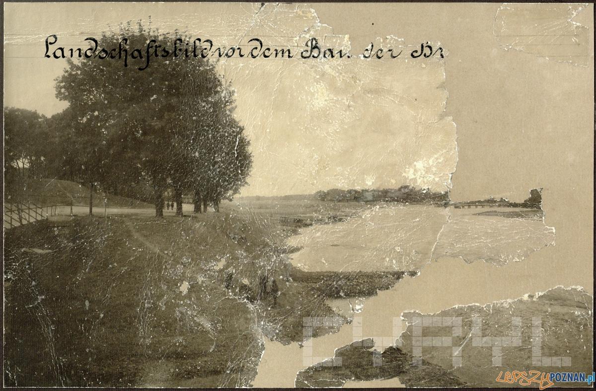 Dolina Warty, okolice mostu św. Rocha przed jego budową  Foto: CYRYL