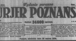 Kurjer Poznański 28.03.1926 winieta Foto: WBC
