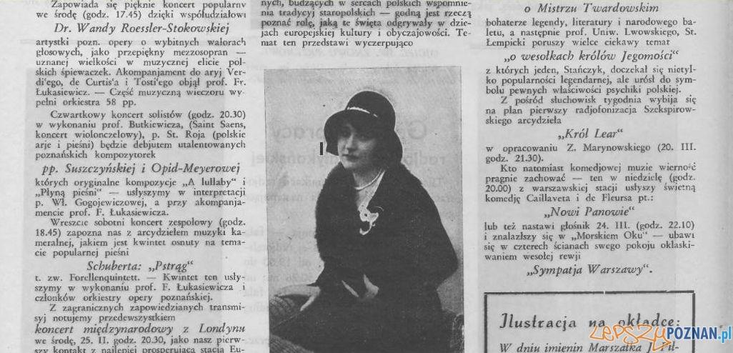 Tydzien Radjowy 22.03.1931 zapowiedź koncertu Wandy Roessler - Stokowskiej Foto: WBC