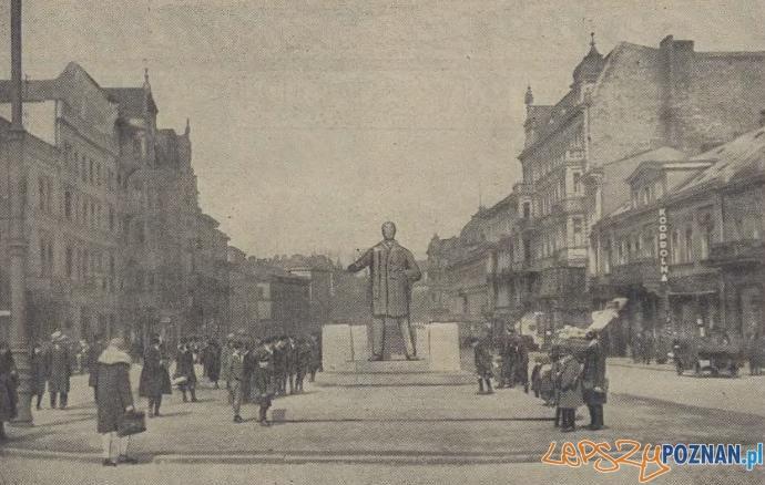 Gdzie ma stanac pomnik Wilsona Foto: Ilustracja Poznanska 21.04.1931