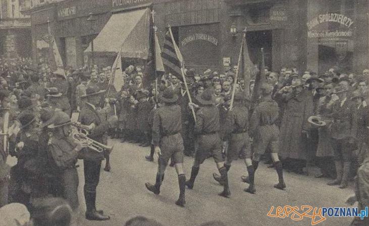 Zjazd harcerstwa w Poznaniu 21.04.1931 Foto: Ilustracja Poznanska