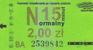 Bilet MPK 2008 Foto: Klub Miłośników Pojazdów Szynowych
