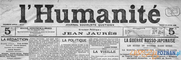 L'Humanite - pierwszy numer Foto: CC
