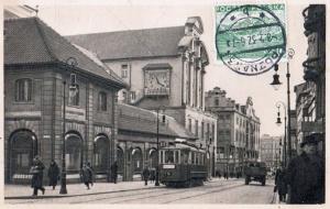 Tramwaj na Paderewskiego 1936/37