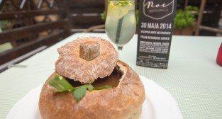 Restauracja Pastela - zupa piwna, lemoniada z czarnego bzu