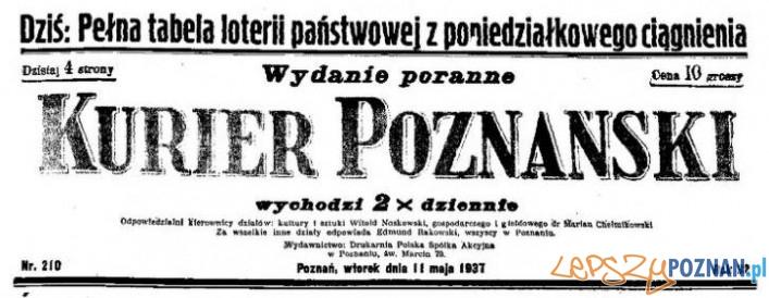 Kurier Poznański 11 maja 1937 Foto: Wielkopolska Biblioteka Cyfrowa
