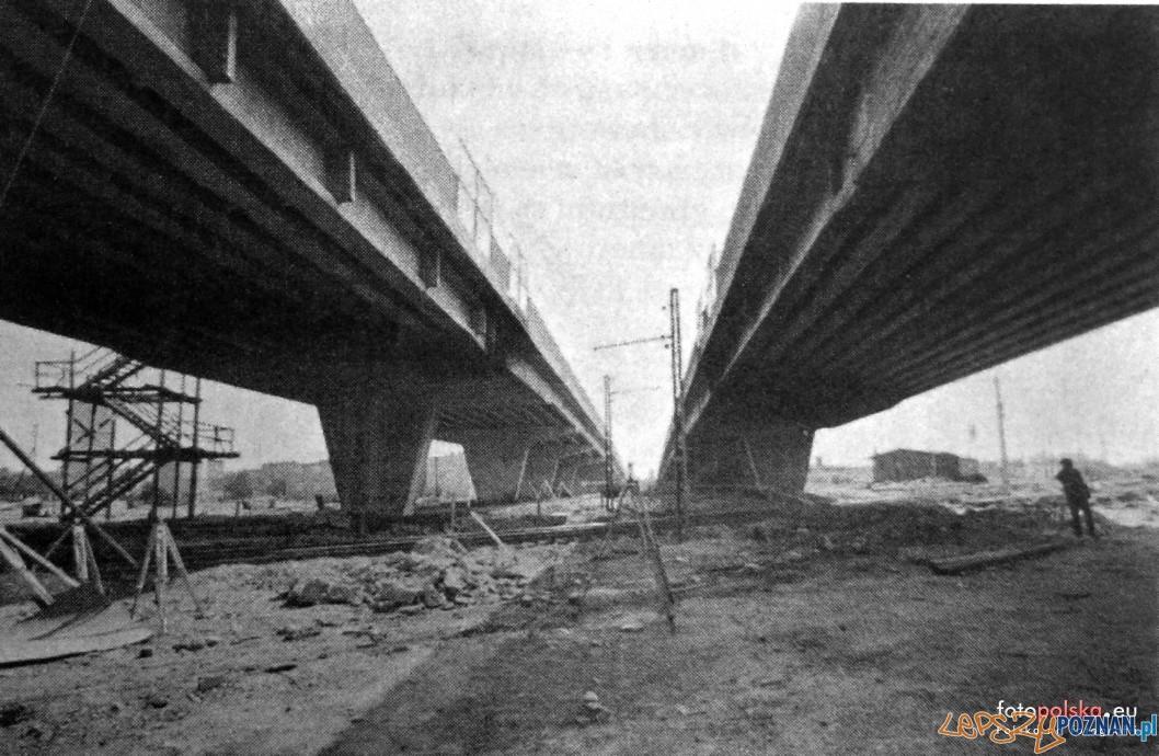 Budowa wiaduktu w 1971 r Foto: fotopolska