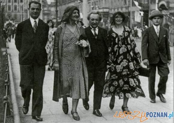 Zenon Kosidowski, Stanisława Wysocka, Emil Zegadłowicz. Poznań, około 1930 roku Foto: CC