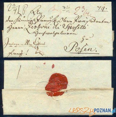 List do nadprezydenta (Oberpräsident) Wielkiego Księstwa Poznańskiego Foto: historiapoczty.eu
