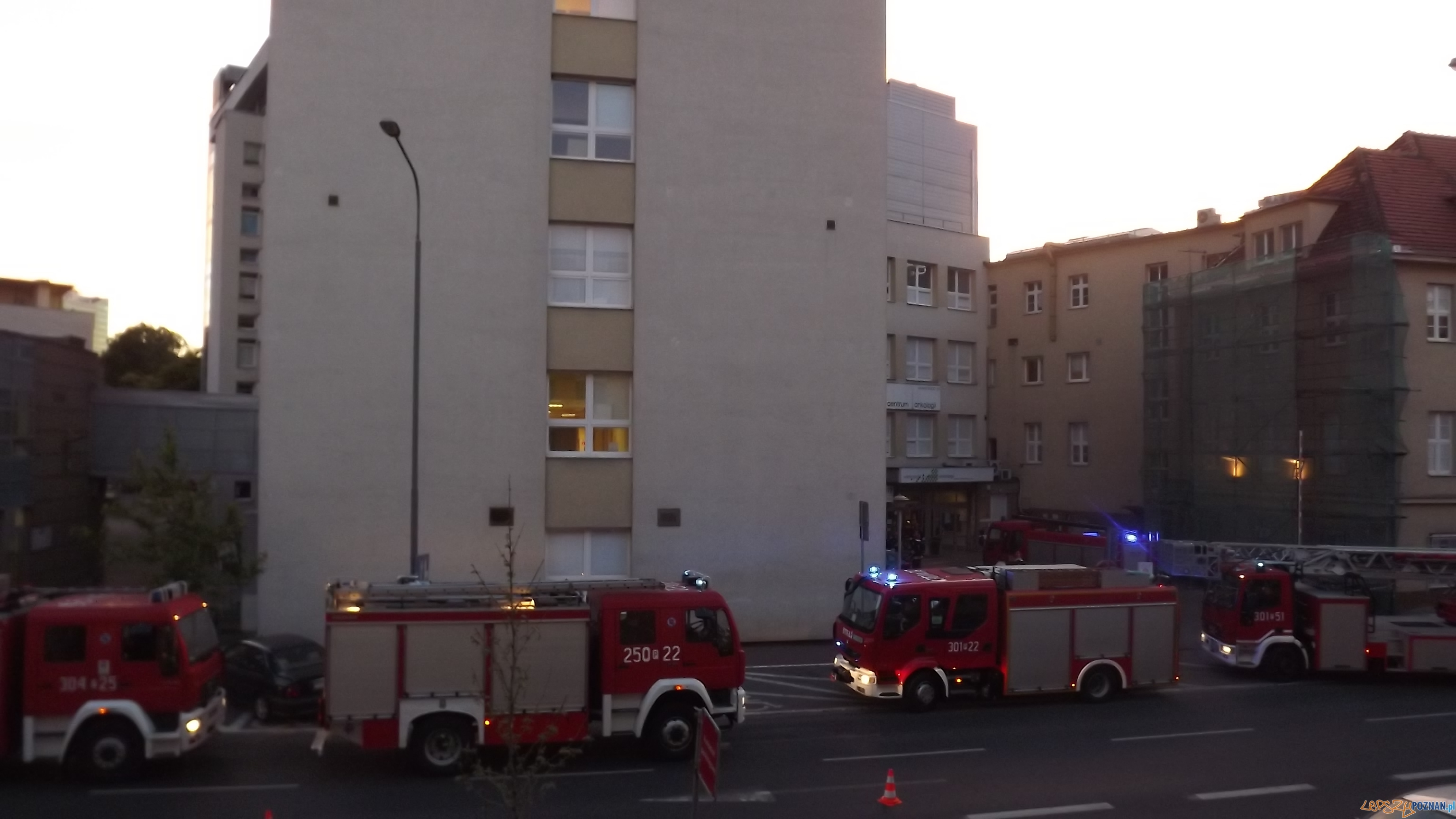 Pożar w Wielkopolskim Centrum Onkologicznym  Foto: Asia / news@lepszypoznan.pl