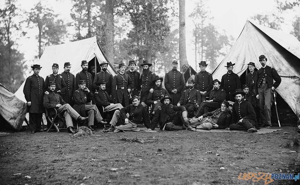 Oficerowie 80 Pułku Piechoty z Nowego Jorku (1863) Foto: Biblioteka Kongresu USA / Timothy H. O''Sullivan