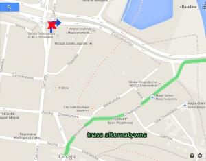 Utrudnienia na Garbary-Estkowskiego (trasa alternatywna) (18.07.2014) Foto: lepszyPOZNAN.pl / Google