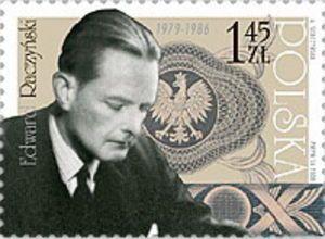 Edward Bernard Raczyński na znaczku Foto: poznan.wikia