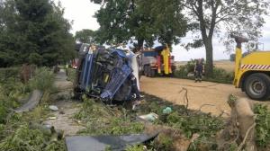 Śmiertelny wypadek na drodze Foto: Straż Pożarna / Różański Adrian