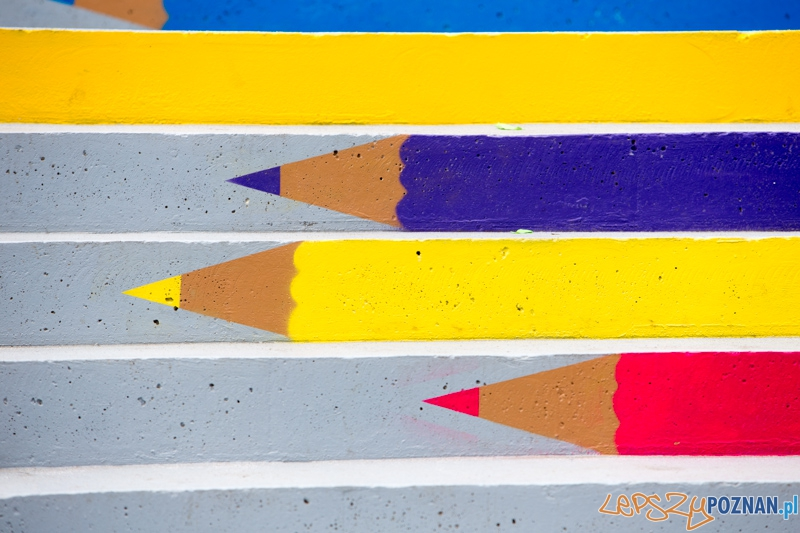 Kolorowe schody  Foto: lepszyPOZNAN.pl / Piotr Rychter