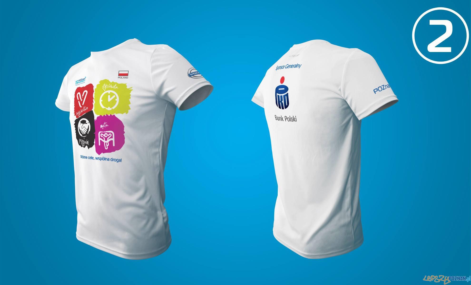 Projekty koszulek na 15. Poznań Maraton  Foto: