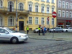 Policja przy Galerii MM Foto: A. Michalkiewicz