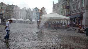 Kurtyna wodna na Starym Rynku Foto: lepszyPOZNAN.pl / tab