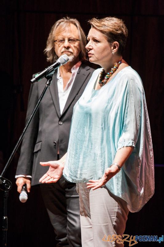 Jan A.P. Kaczmarek i Małgorzata Omalinowska - Transatlantyk - gala otwarcia (8.08.2014) CK Zamek  Foto: © lepszyPOZNAN.pl / Karolina Kiraga
