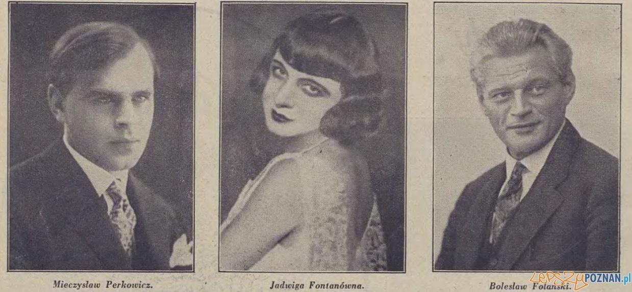 Aktorzy Teatru Wielkiego, Foto: Ilusttracja Poznańska z 5 sierpnia 1930