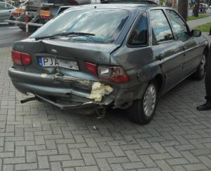 Zderzenie 3 samochodów w Jarocinie Foto: PSP Jarocin / st.sekc. Hubert Kanafa,  asp. Arkadiusz Naglak