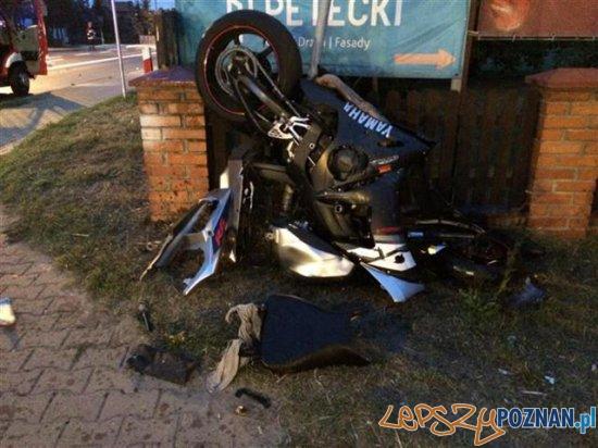 Zderzenie samochodu z motocyklem Foto: PSP / st. str. Karol Boguszyński