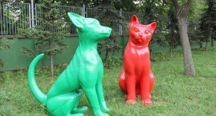 Figury psa i kota ukryte w Poznaniu