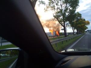 Pożar naczepy Foto: Jacek
