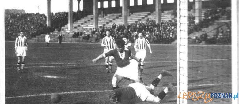 Frydery Scherfke w meczu z Cracovią 1931 Foto: wartapoznan.phorum.pl