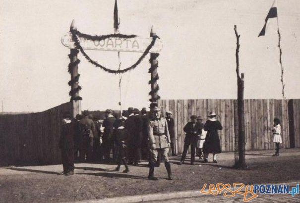 Otwarcie stadionu Warty przy Rolnej 1921 Foto: MHMP