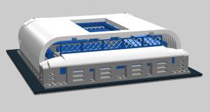 Wizualizacja - INEA Stadion z klocków Lego Foto: Mateusz Wawrowski