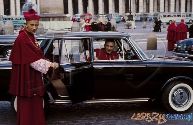 Arcybiskup Baraniak i biskup Etter w Rzymie podczas Soboru Watykańskiego Foto: jp2love.pl
