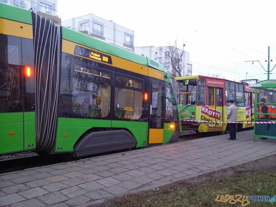 Zderzenie tramwajów na Kórnickiej