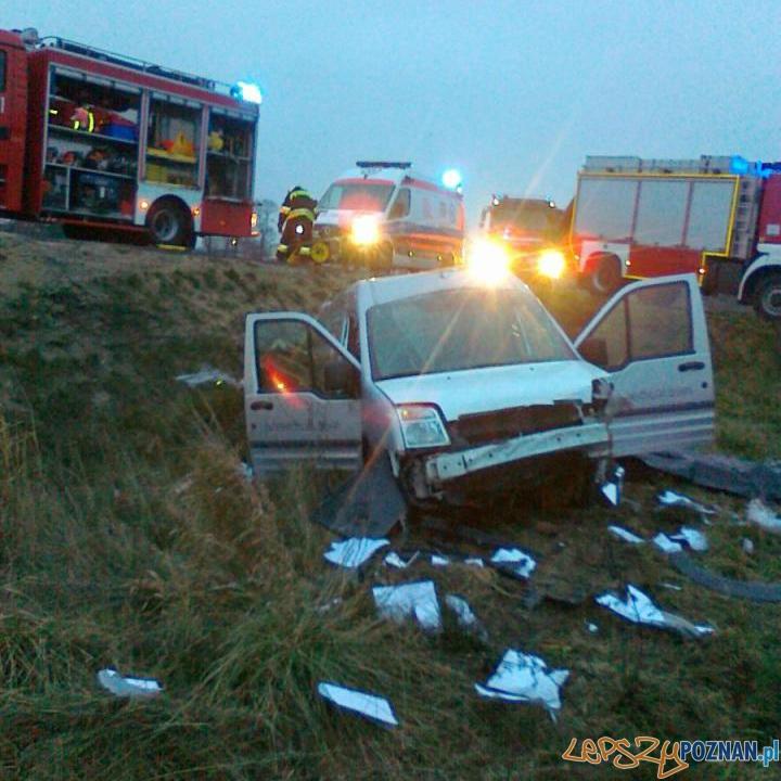 Śmiertelny wypadek w Kleszczewie  Foto: Marek Paczkowski