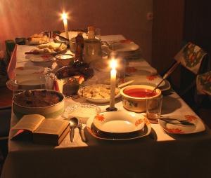 Wigilijny stół Foto: wikipedia