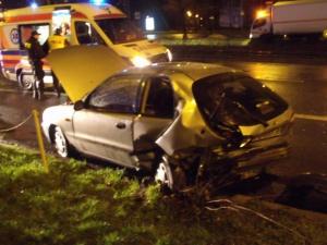 Groźny wypadek na Warszawskiej Foto: PSP JRG3