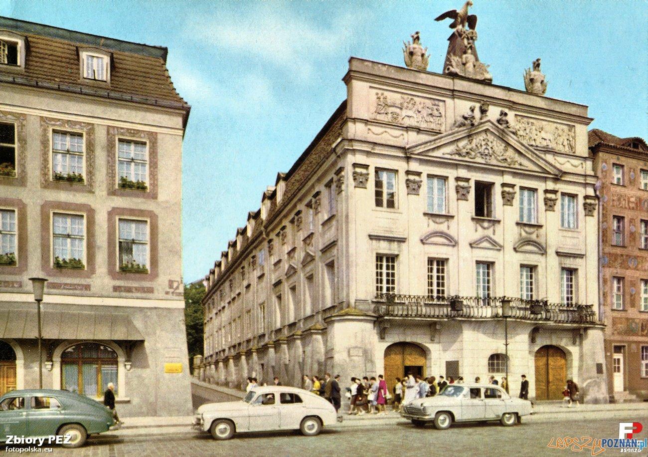 Pałac Działyńskich 1967-69 Foto: P. Krassowski. Pocztówka RUCH.