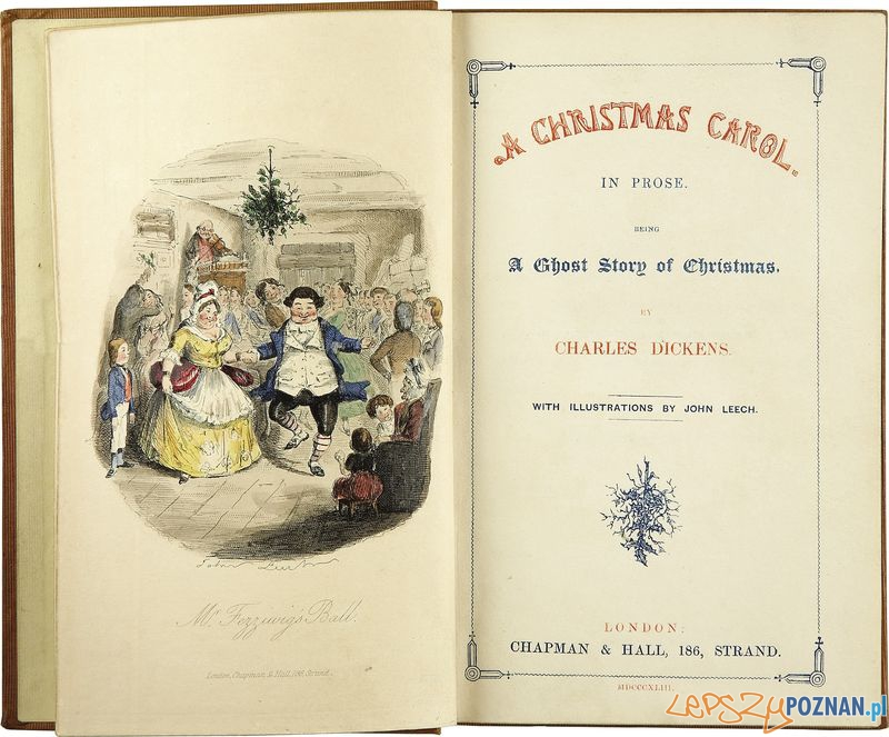 Strona tytułowa pierwszego wydania Opowieści Wigilijnej z 1843 Foto: wikipedia