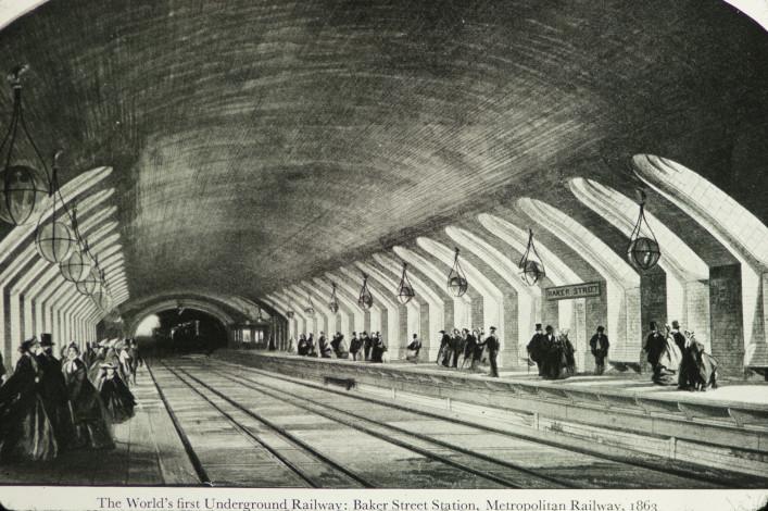 Metro w Londynie - Stacja Baker Street - 1863