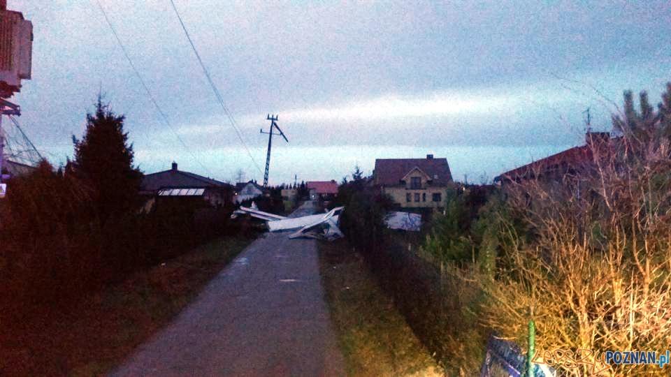 Silny wiatr z zachodu  Foto: PSP / Arkadiusz Drzewiecki