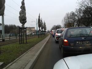 Zakorkowana Grunwaldzka Foto: news@lepszypoznan.pl